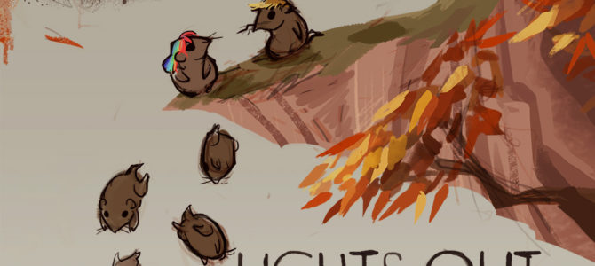"""""""Lights out Lemmings"""" by Chaotic Neutral"""